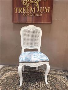 כיסא עץ מלא גוון לבן - Treemium - חלומות בעץ מלא