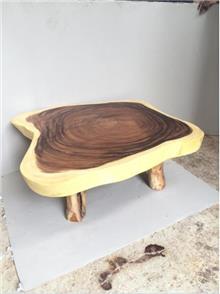 שולחן סלון גזע פרוס - Treemium - חלומות בעץ מלא