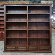 ספרייה איכותית מעץ מלא - Treemium - חלומות בעץ מלא