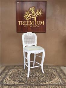 כיסא בר מושב מרופד - Treemium - חלומות בעץ מלא