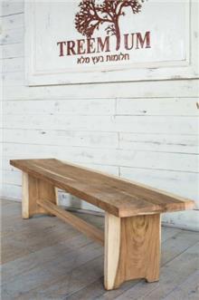 ספסל עץ פרוס  - Treemium - חלומות בעץ מלא