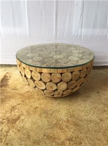 שולחן סלון בולי עץ  - Treemium - חלומות בעץ מלא
