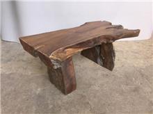 ספסל גושני עץ טיק - Treemium - חלומות בעץ מלא