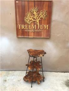 מעמד ייחודי 3 מדפים - Treemium - חלומות בעץ מלא