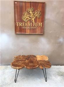 שולחן סלון פלחי טיק - Treemium - חלומות בעץ מלא