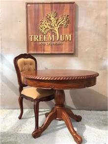 שולחן עגול מהגוני - Treemium - חלומות בעץ מלא