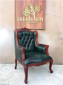 כורסא עם רפידות קפיטונאז - Treemium - חלומות בעץ מלא