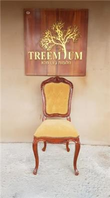כיסא עץ רפידות קפיטונאז - Treemium - חלומות בעץ מלא
