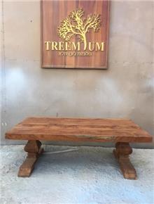 שולחן סלון עץ טיק ייחודי - Treemium - חלומות בעץ מלא