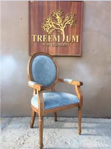 כיסא עגול - Treemium - חלומות בעץ מלא