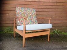 כורסא רטרו יחיד - Treemium - חלומות בעץ מלא