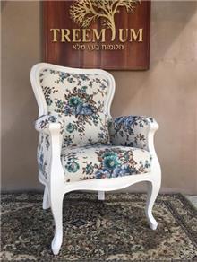 כורסא וינטג פירחונית - Treemium - חלומות בעץ מלא
