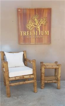 כורסא במבוק + שולחן - Treemium - חלומות בעץ מלא