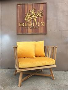כורסא עץ מעוגלת - Treemium - חלומות בעץ מלא