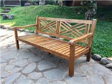 ספה מעץ טיק גב איקס - Treemium - חלומות בעץ מלא