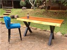 שולחן בר גזע פרוס ללא חיבורים - Treemium - חלומות בעץ מלא