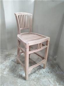 כיסא בר טיק דגם ivy - Treemium - חלומות בעץ מלא
