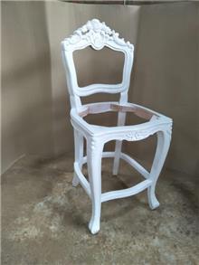 כיסא בר גילופים - Treemium - חלומות בעץ מלא