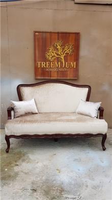 ספה עץ מלא מהגוני - Treemium - חלומות בעץ מלא