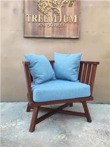 כורסא מעוגלת מהגוני - Treemium - חלומות בעץ מלא