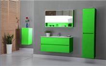 ארון אמבטיה ירוק