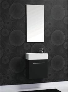 ארון שחור לאמבטיה