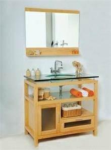 ארון אמבטיה עץ מלא