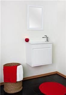 ארון לבן לחדר הרחצה